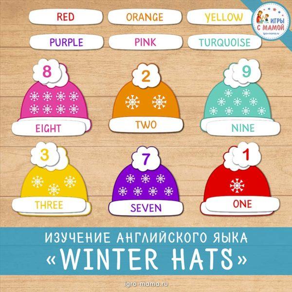 Изучаем английский язык «Winter hats»