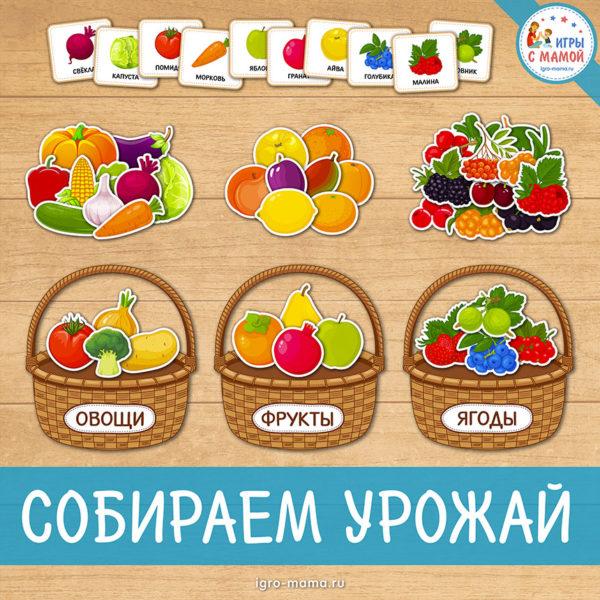Дидактическая игра «Собираем урожай»